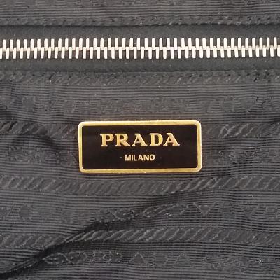 zipper point shopper bag black